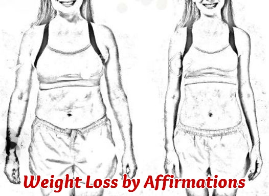 Before and After photos of weight loss by affirmations.