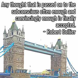 Robert Collier quote.