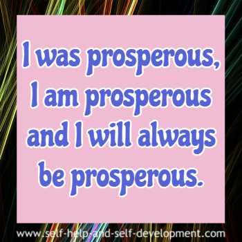Self talk for eternal prosperity.