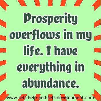 Self talk for overflowing prosperity in life.