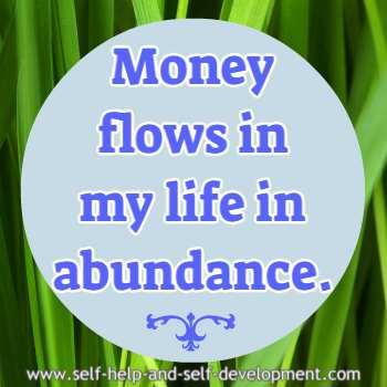 Self talk for abundant flow of money in life.