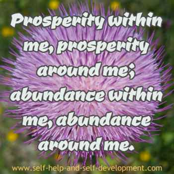 Self talk for inner and hence outer prosperity and abundance.