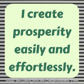 Self-talk for creating prosperity easily and effortlessly.