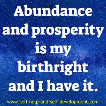 Self-talk for abundance and prosperity to be birth right.