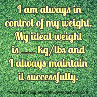 Inspiration for controlling weight.