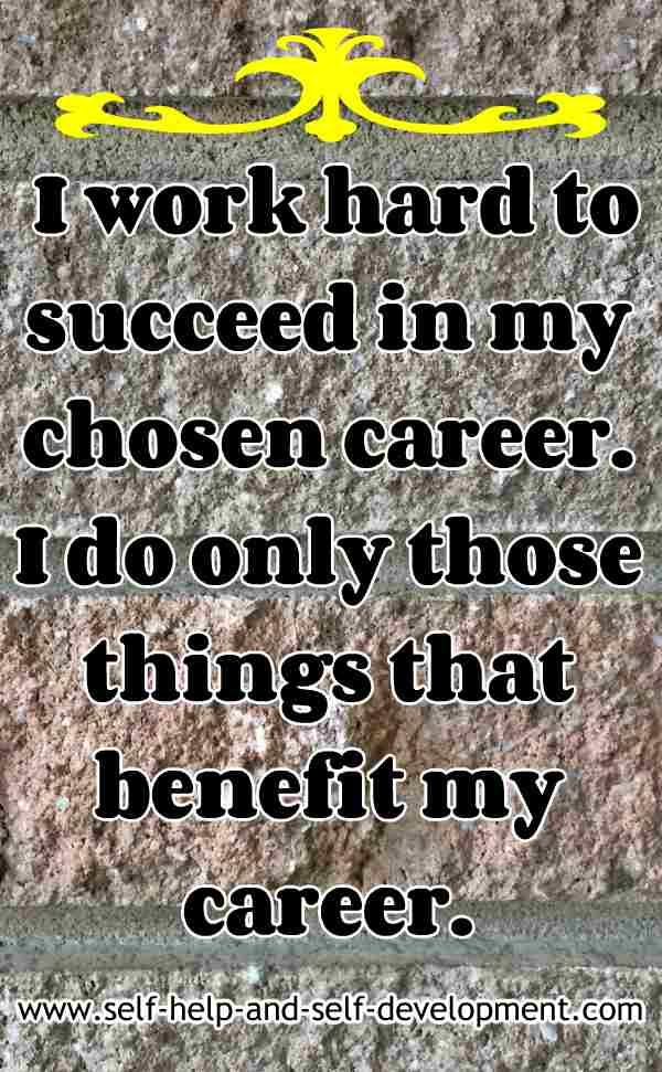 Self-talk for a good career.