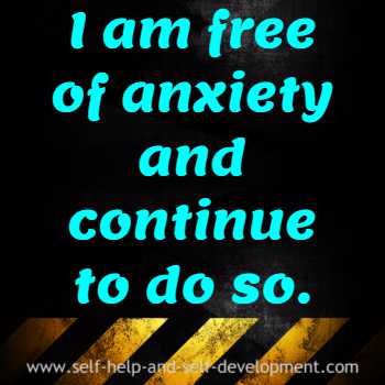 Inspiration for freedom from anxiety.