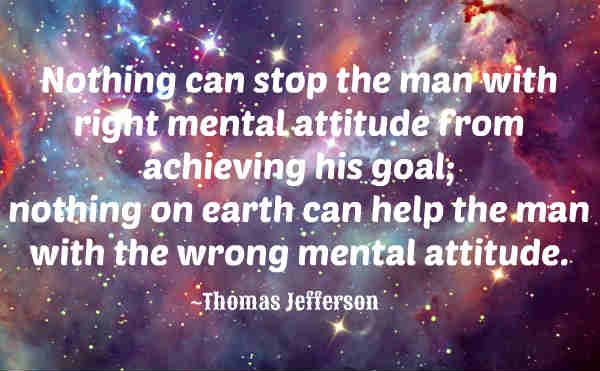 Inspirational quote by Thomas Jefferson.