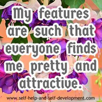Self-talk for being pretty and attractive.