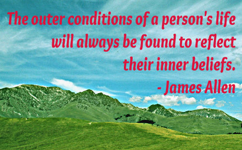 A belief quote by James Allen.