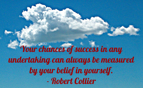A belief quote by Robert Collier.
