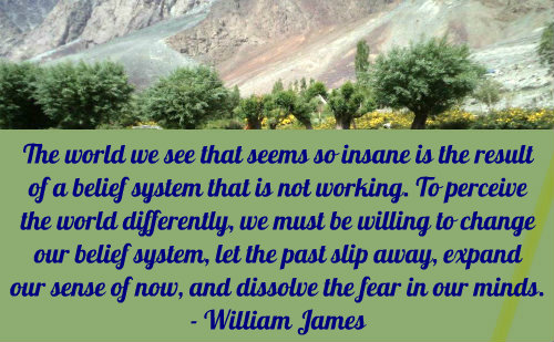 A belief quote by William James.