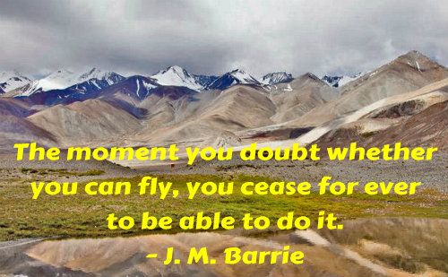 A belief quote by J. M. Barrie.