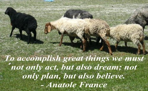 A belief quote by Anatole France.