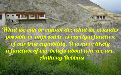 A belief quote by Anthony Robbins.