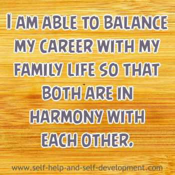 Self-talk for balancing family life and career.