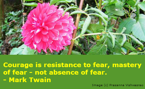 A courage quote by Mark Twain.