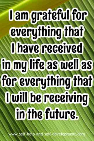 Statement of gratitude.