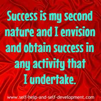 Self-talk for attaining success in any activity I undertake.