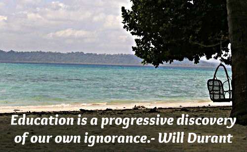 A very deep education quote by Will Durant.