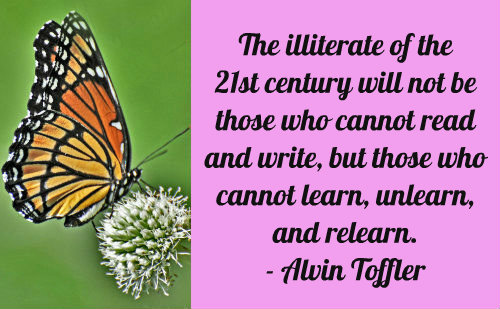 An education quote by Alvin Toffler.