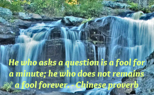 A beautiful Chinese proverb on seeking knowledge.