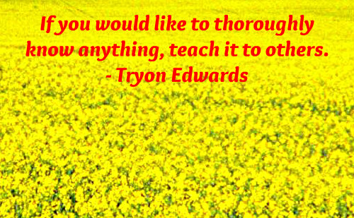 A knowledge quote by Tryon Edwards.