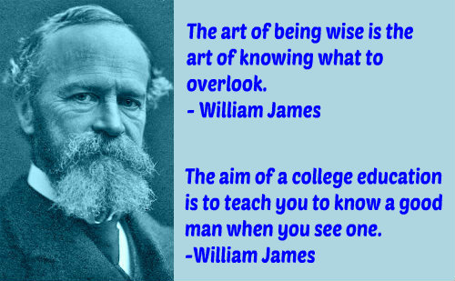 Two profound education quotes by William James.