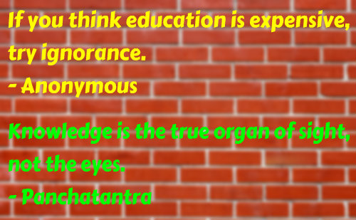 Two beautiful quotes on Knowledge and Education.