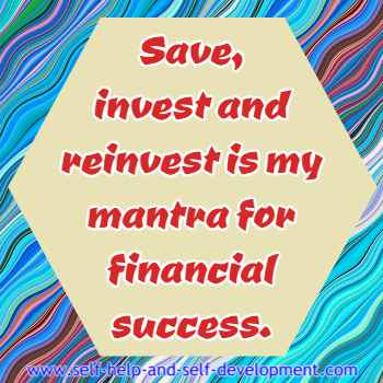 Self talk for saving and investing for financial success.