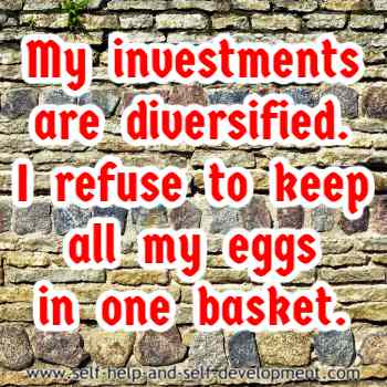 Self-talk for diversifying investments.