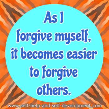 Self-talk for forgiving myself and others.