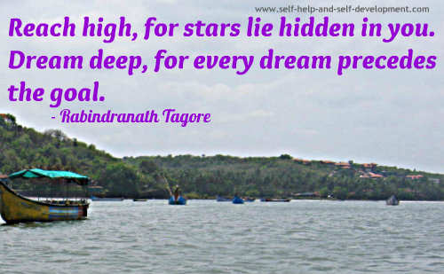 Goals Quote: Reach high, for stars lie hidden...