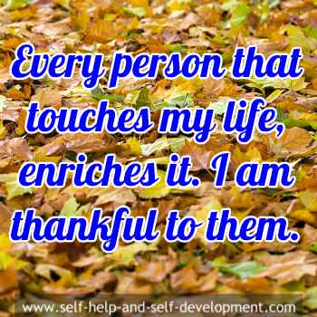 Statement of thankfulness to everyone who enters my life.