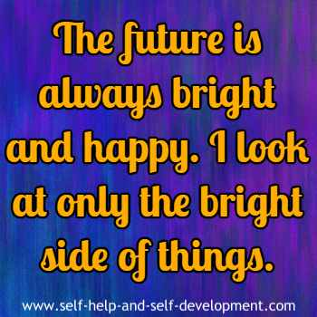 Self-talk for having a bright and happy future.