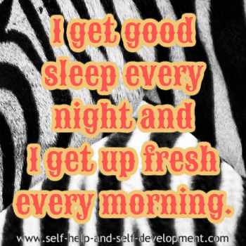 Self talk for good, sound sleep.