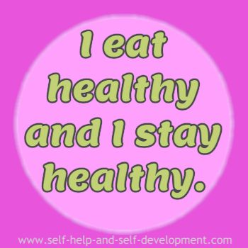Self talk for healthy eating and a healthy life.