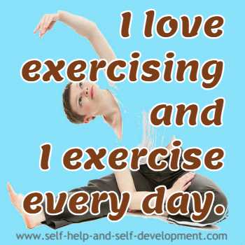 Self talk for daily exercise.