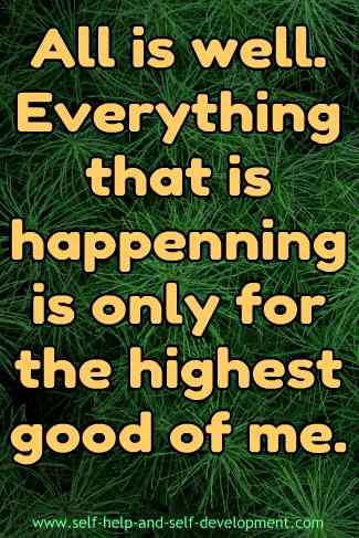 Good Life Affirmation.