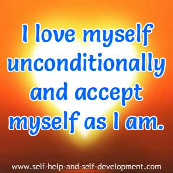 Self-talk for loving and accepting myself as I am.