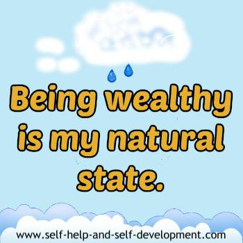 Self-talk for being wealthy naturally.