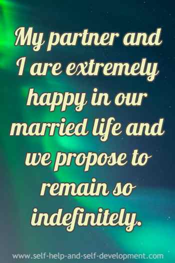Inspiration for happiness in married life.
