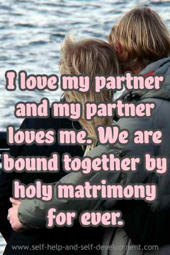 Inspiration for love between partners.