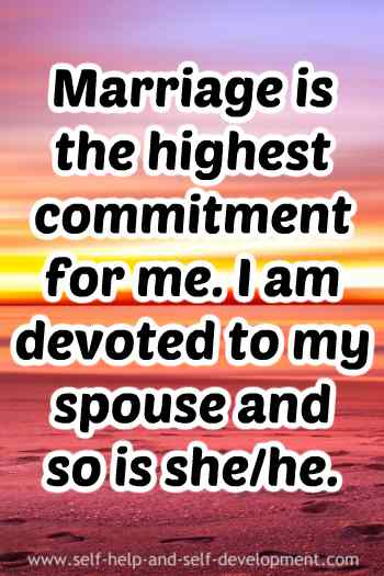 Inspiration for commitment to marriage.