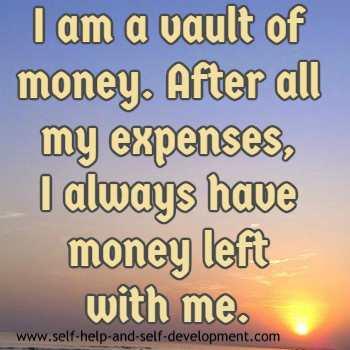 Inspiration for always saving money.