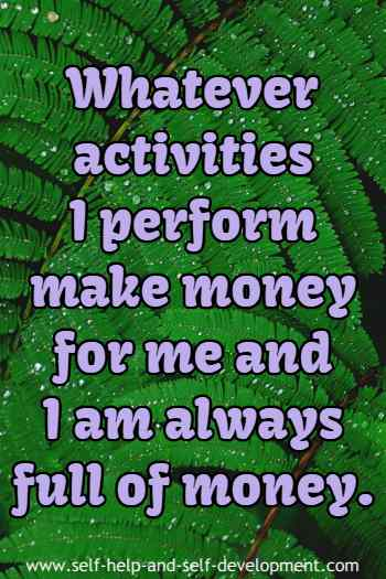 Inspiration for money making activity.