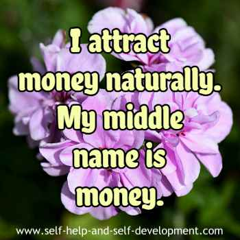 Self talk for attracting money naturally.