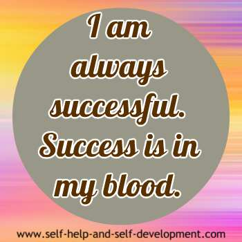 Self talk for being successful always.