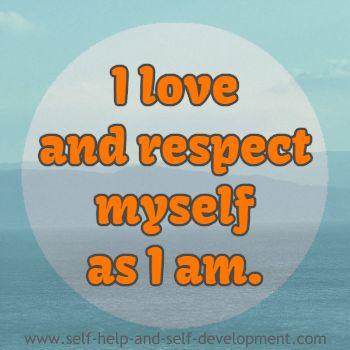 Positive inspiration for self respect.