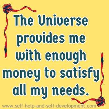 Positive inspiration for abundance with money.